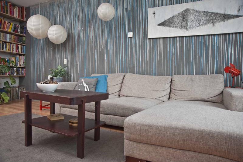 Grijs Behang Woonkamer : Muurschildering woonkamer u hamertje chick